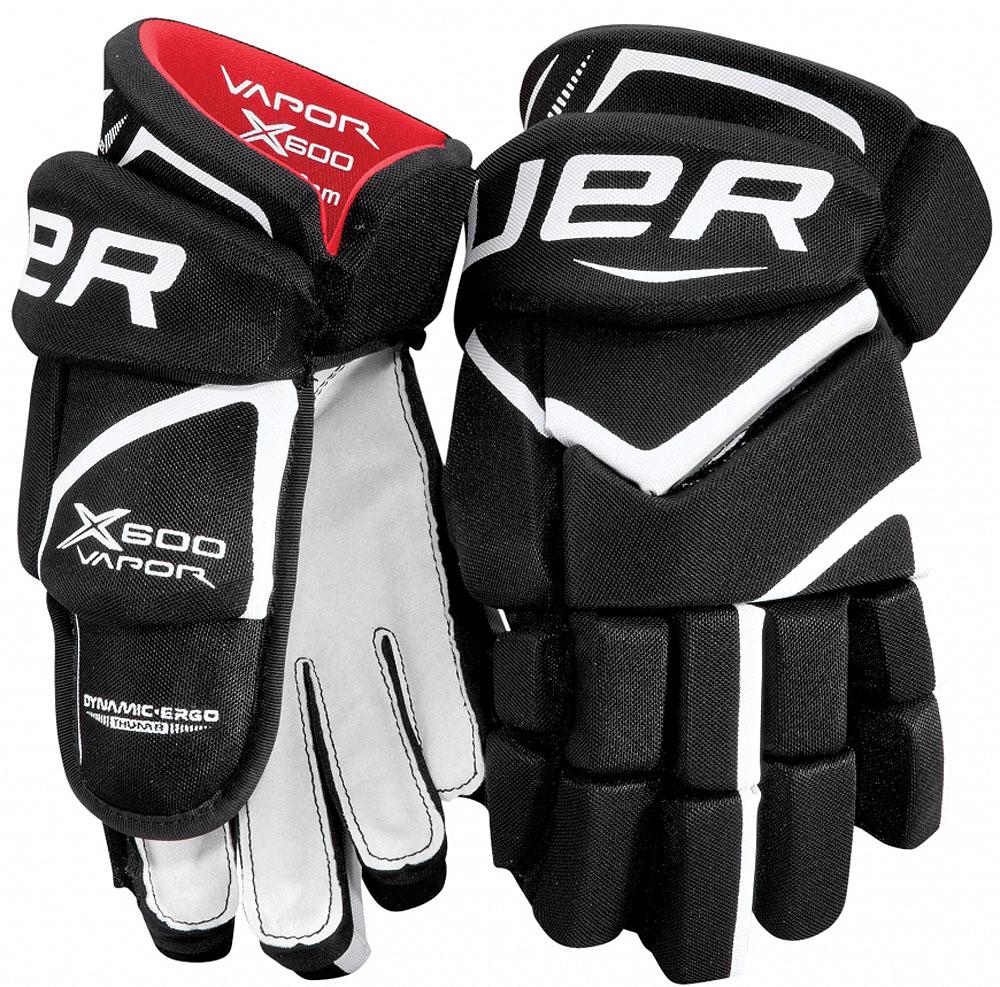 Перчатки хоккейные BAUER Vapor X600, цвет: черный. 1049179. Размер 141049179