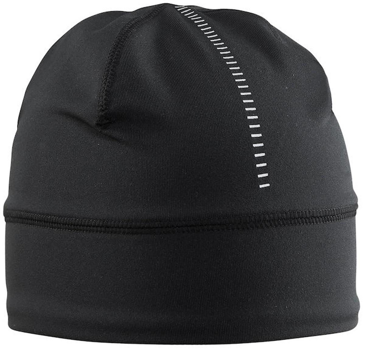 Шапка Craft Livigno, цвет: черный. 1904564/9999. Размер S/M (56)1904564/9999Легкая проветриваемая шапка из тянущегося материала.