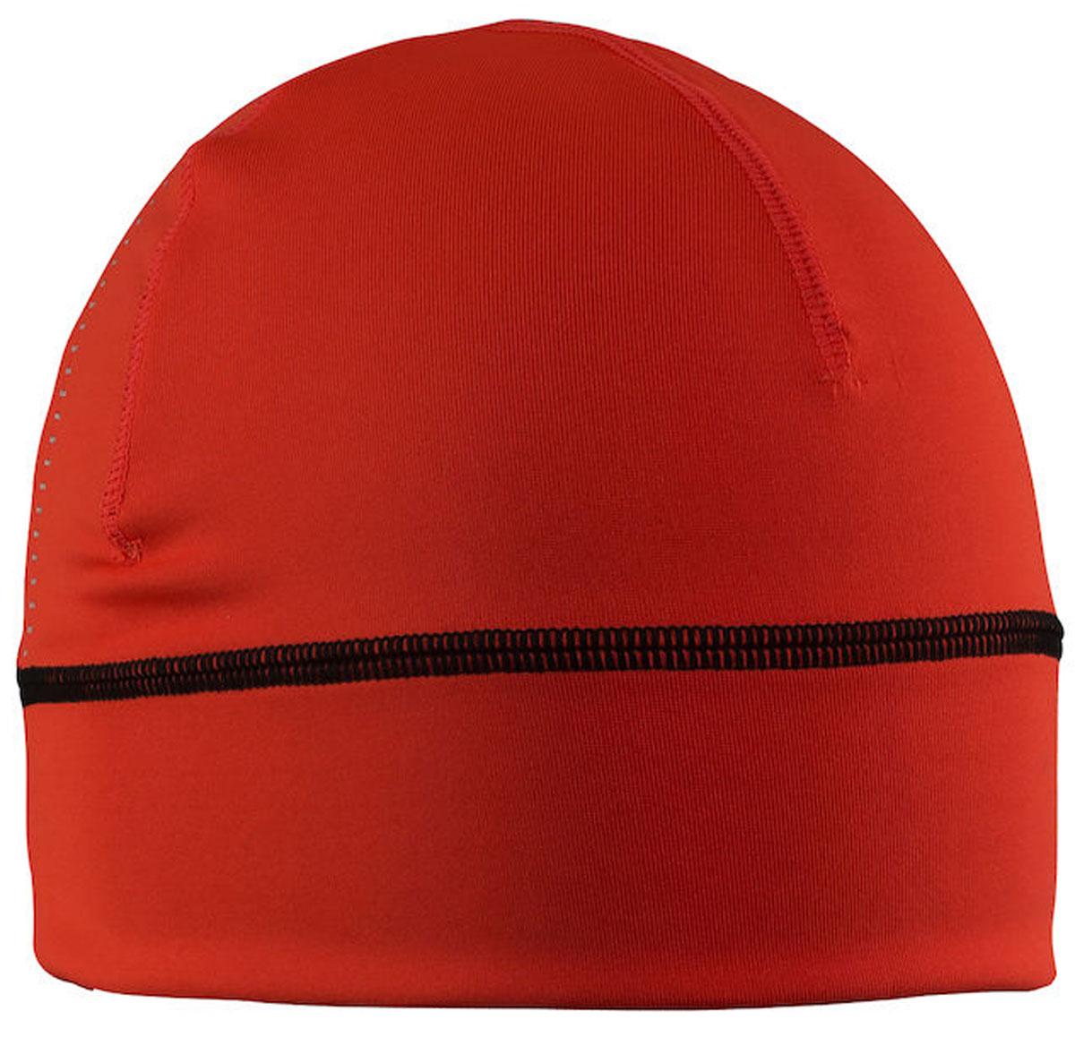 Шапка Craft Livigno, цвет: красный. 1904564/2566. Размер L/XL (58)1904564/2566Легкая проветриваемая шапка Livigno от Craft Спорт выполнена из эластичного материала. Модель отлично подойдет для активного отдыха и занятий спортом.