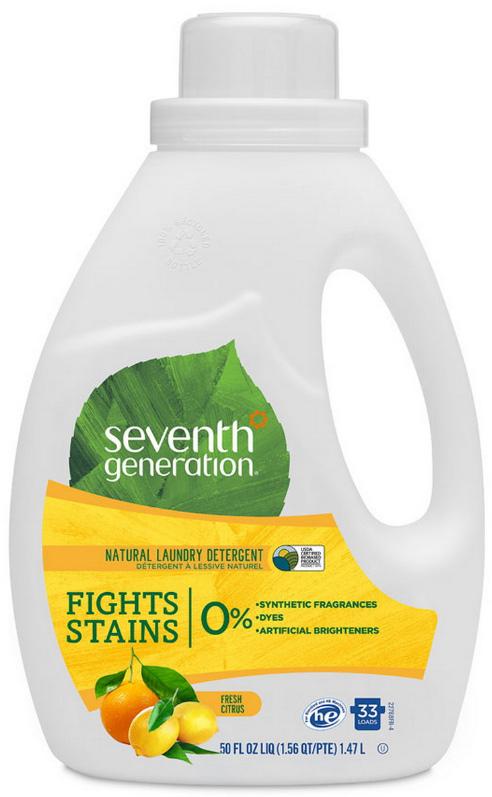 Гель для стирки  Seventh Generation , 2-х кратной концентрации, свежий цитрусовый бриз 1,47 л