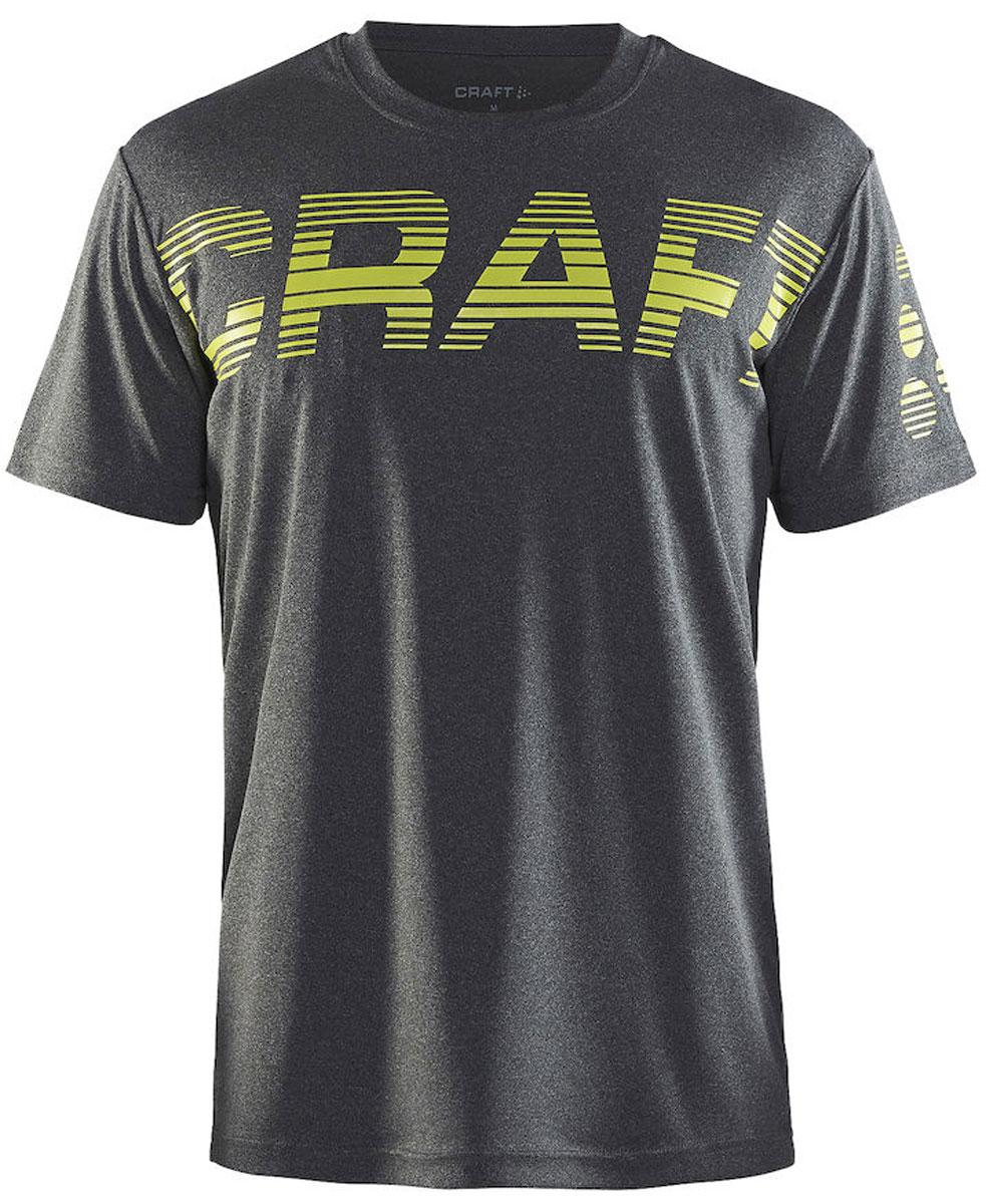Футболка мужская Craft Prime Run Logo, цвет: темно-серый. 1904341/2975. Размер S (46)1904341/2975Мужская футболка Prime Run Logo от Craft выполнена из мягкого полиэстера с влагоотводящими свойствами. Модель с круглым вырезом горловины и короткими рукавами на груди оформлена светоотражающим логотипо для большей видимости.