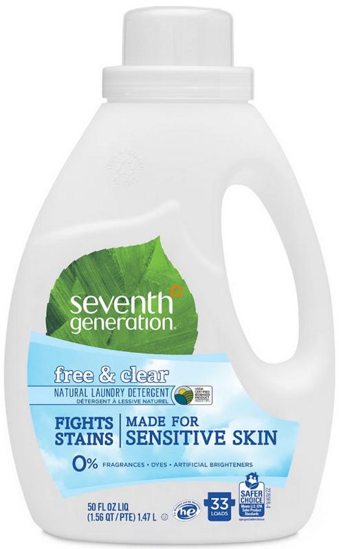 seventh star 100% Гель для стирки Seventh Generation, 2-х кратной концентрации, без запаха, 1,47 л