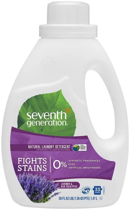 Гель для стирки  Seventh Generation , 2-х кратной концентрации, эвкалипт и лаванда 1,47 л -  Бытовая химия