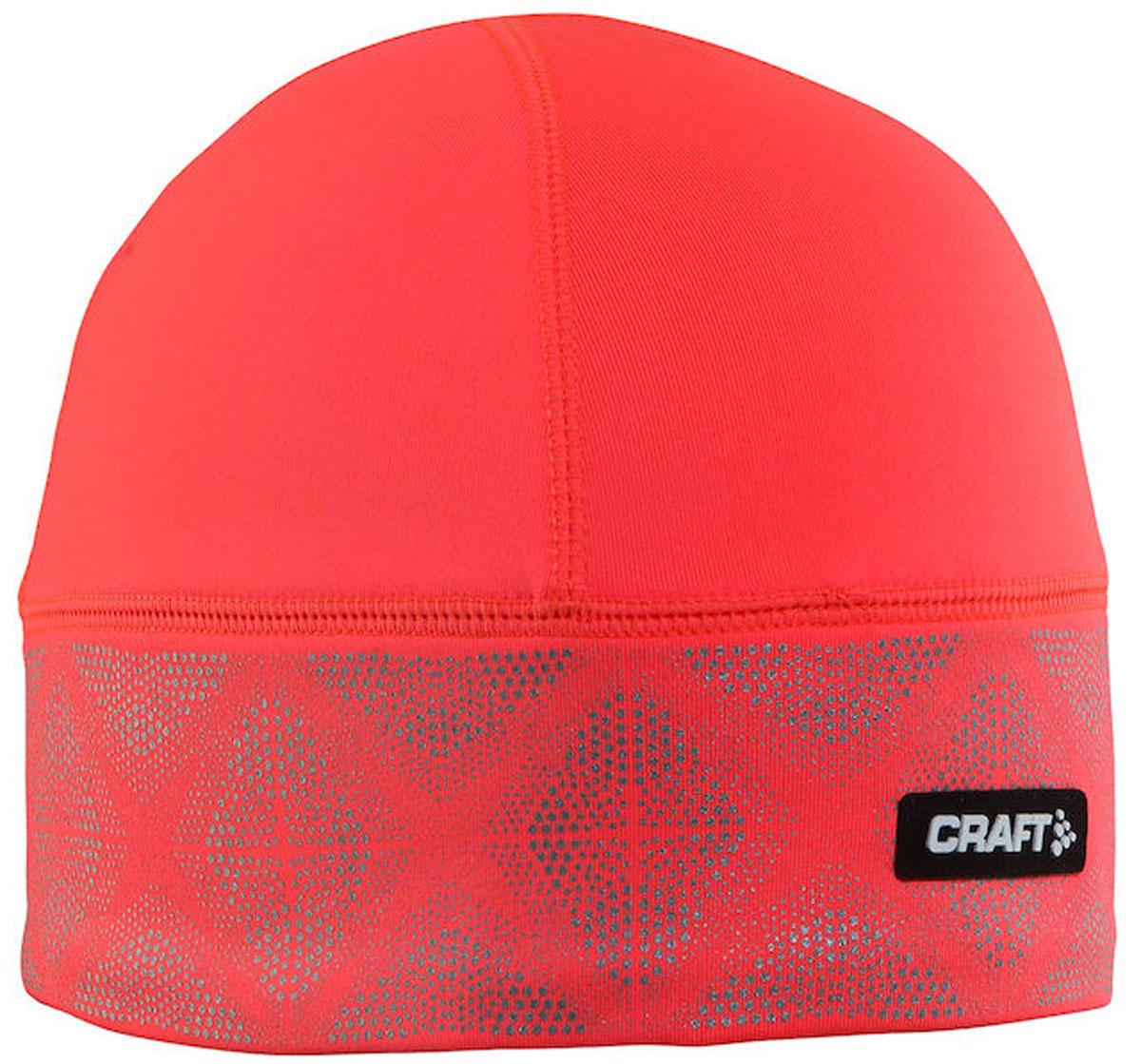 Шапка женская Craft Brilliant 2.0, цвет: коралловый. 1904302/2801. Размер S/M (56)1904302/2801Теплая и легкая шапка Craft Brilliant 2.0 выполнена из эластичного полиэстера. Материал мягкий и приятный на ощупь. Изделие оформлено светоотражающим принтом.