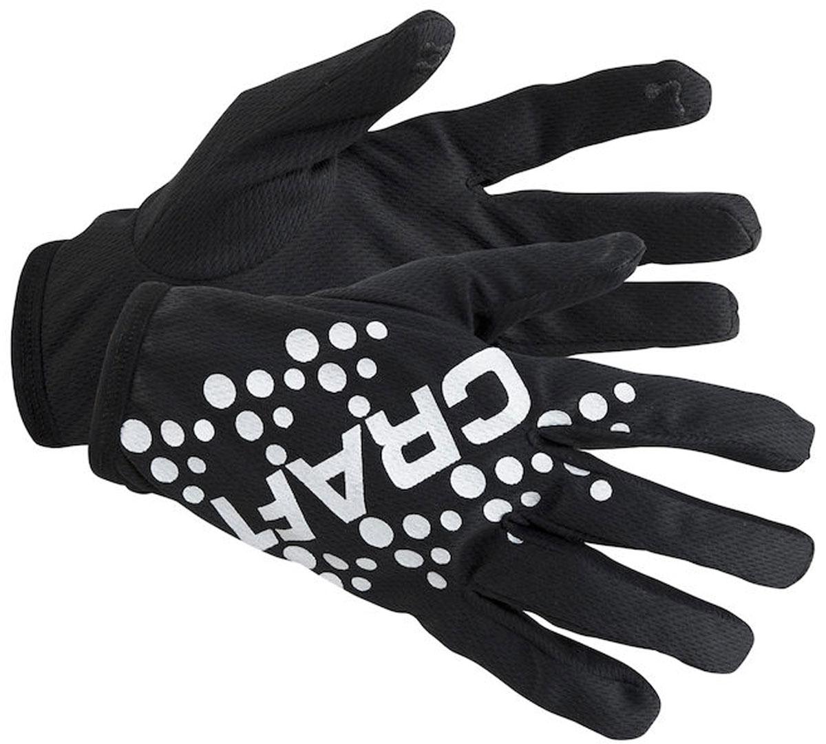 Перчатки Craft Printed, цвет: черный. 1904296/9999. Размер XS (7)1904296/9999Беговые перчатки Craft Printed выполнены из эластичного материала и оформлены логотипным принтом. В таких перчатках ваши тренировки станут комфортнее и эффективнее!