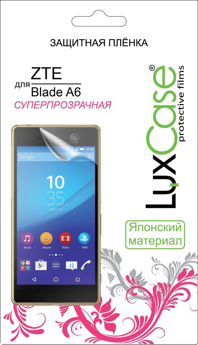 LuxCase защитная пленка для ZTE Blade A6, суперпрозрачная luxcase защитная пленка для zte blade a910 суперпрозрачная
