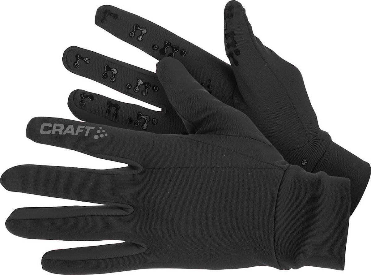 Перчатки Craft Thermal Multi Grip, цвет: черный. 1902955/1999. Размер M (9)1902955/1999Теплые перчатки с начесом изнутри и силиконовым принтом на ладони