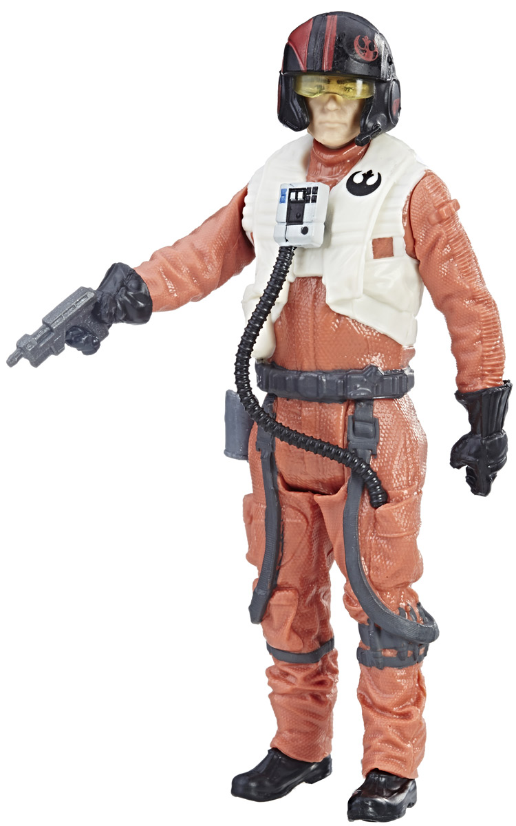 Star Wars Фигурка с двумя аксессуарами Poe Dameron фигурки игрушки star wars лихачи звездных войн