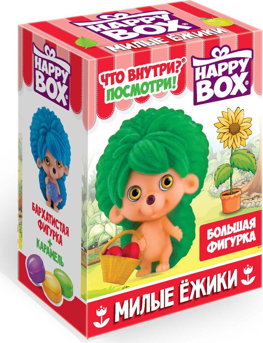 Happy Box Милые ежики карамель с игрушкой, 18 гHB-2-14Коллекция состоит из 8 больших фигурок разноцветных ёжиков. Каждая игрушка выполнена из высококачественных материалов — флока и пластика. Фигурки бархатистые и мягкие на ощупь. Текстура флока и пластика легко чистится, для этого достаточно протереть загрязнение влажной тряпкой. Поэтому можно быть уверенным, что даже после долгих игр игрушки не потеряют своего первоначального вида.