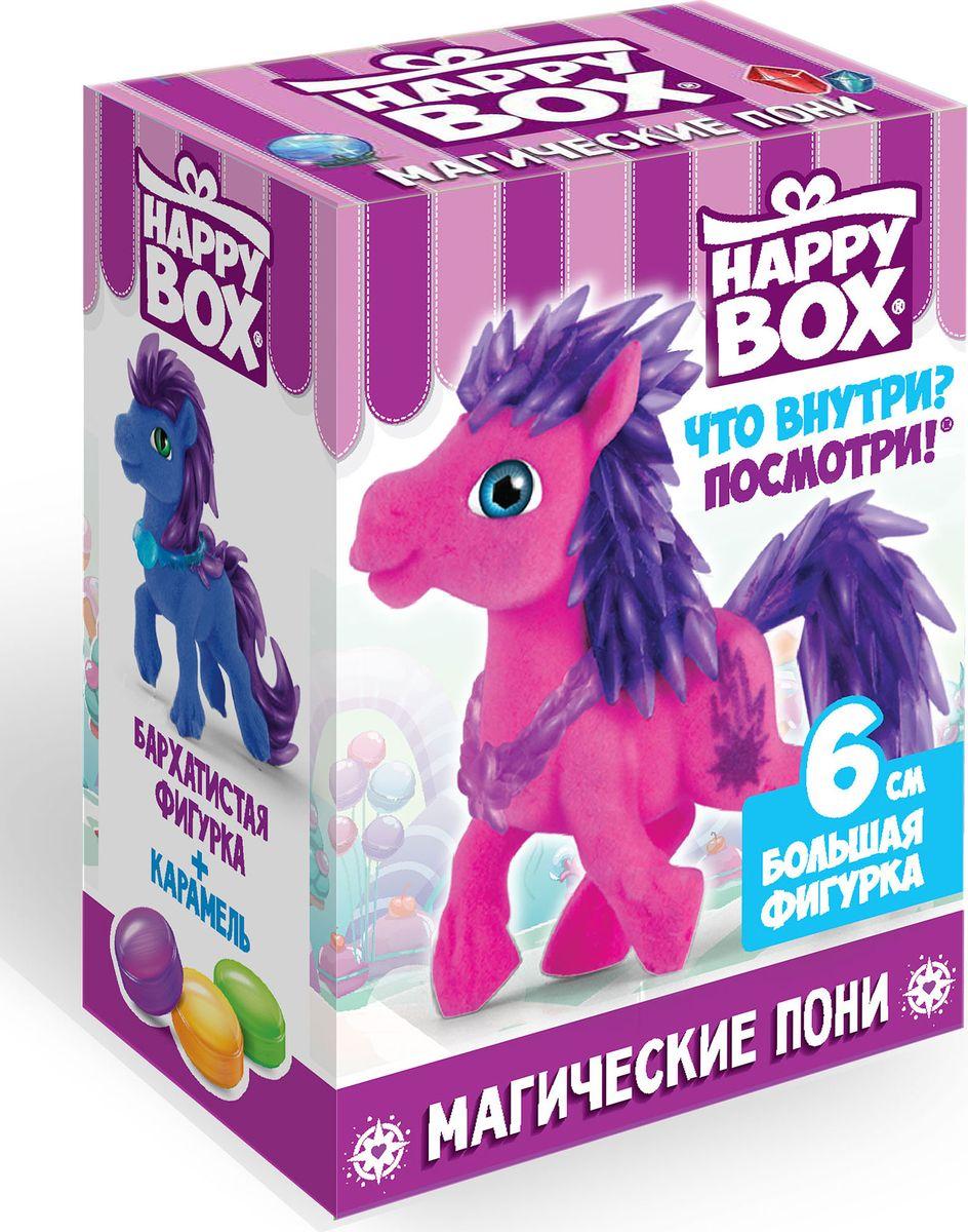 Happy Box Магические пони карамель с игрушкой, 18 гHB-2-9Магические пони - это волшебные повелители стихий! Они управляют молнией, пламенем, бурей, сумерками, инеем и туманом. Всего в коллекции 6 фигурок, но благодаря тому, что каждая игрушка представлена в трех цветовых вариантах, ребенок сможет собрать 18 пони!