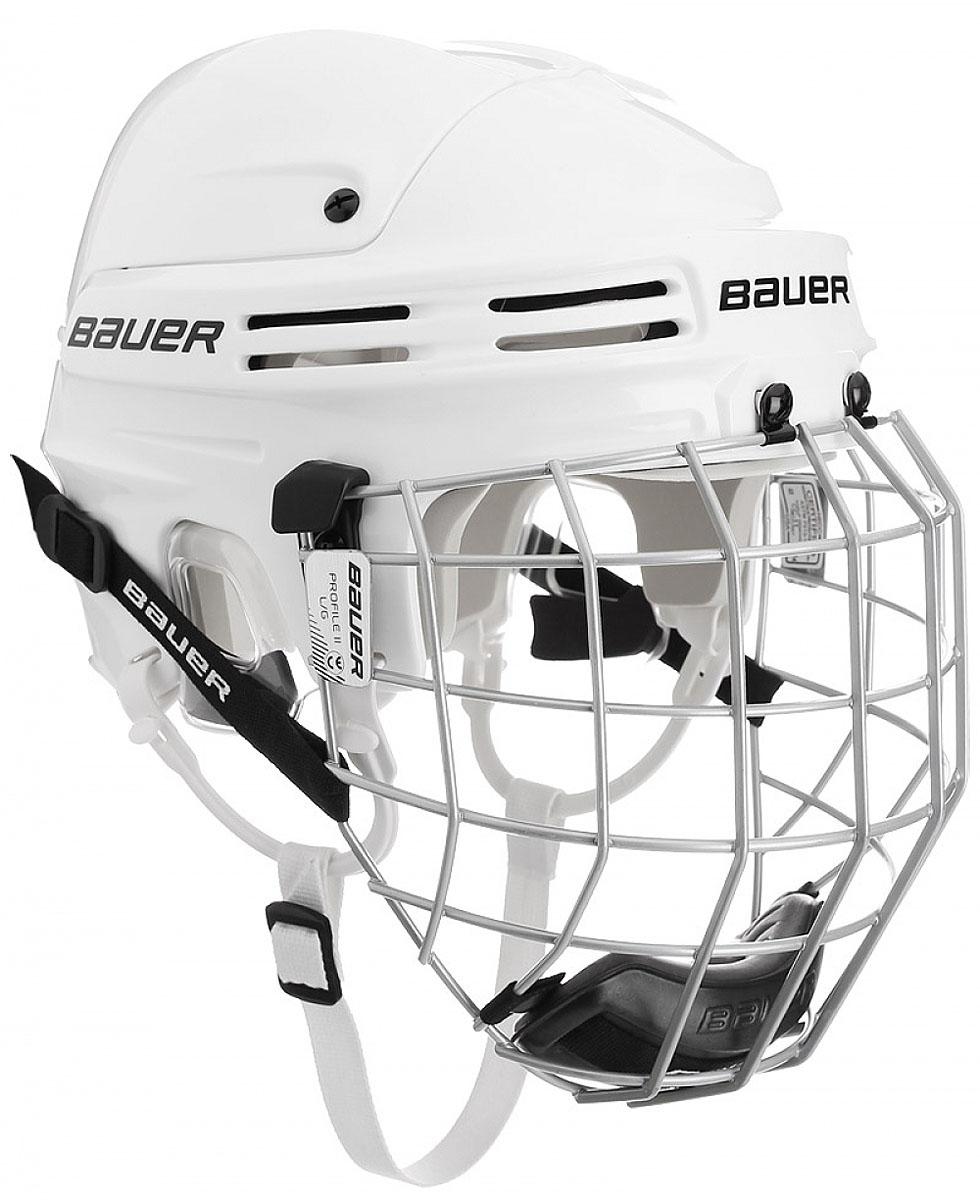 Шлем Bauer  2100 Combo , цвет: белый. 1036882. Размер M - Ледовые коньки, хоккей