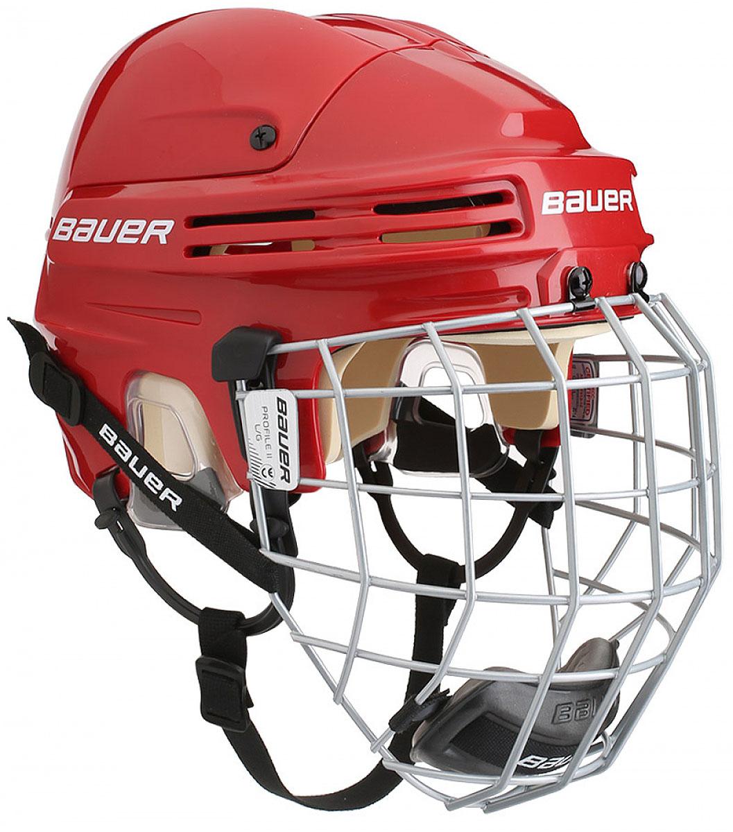 Шлем Bauer  4500 Combo , цвет: красный. 1044665. Размер M - Ледовые коньки, хоккей