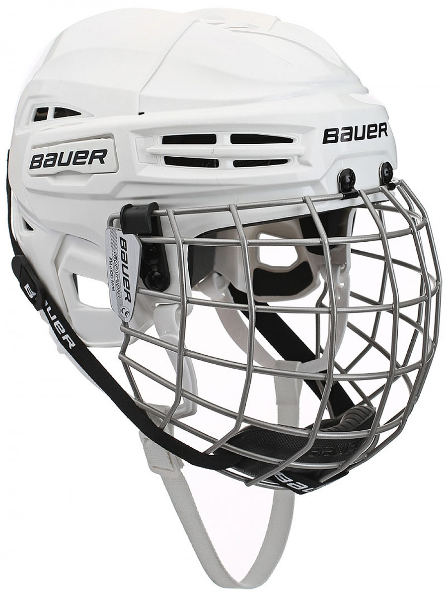 Шлем Bauer  IMS 5.0 , цвет: белый. 1045678. Размер L - Хоккей