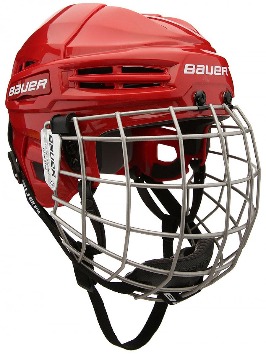 Шлем BAUER IMS 5.0, цвет: красный. 1045678. Размер S1045678Защитный и гибкий материал двойной плотности.Интегрированная защита уха.CSA, HECC, сертификаты СЕ.Укомплектован маской Bauer 2100.