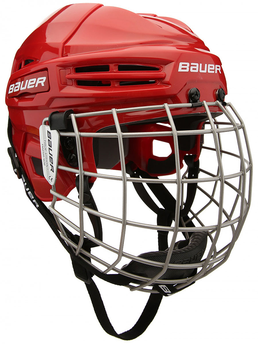 Шлем Bauer  IMS 5.0 , цвет: красный. 1045678. Размер L - Хоккей