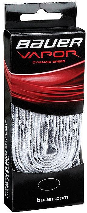 Шнурки Bauer Vapor, без пропитки, цвет: белый, 305 см. 10471981047198Качественные шнурки для хоккейных ботинок Bauer Vapor являются официальной заменой для любой хоккейной обуви производства Bauer.При производстве шнурков используются качественные материалы, что обеспечивает высокую износостойкость и длительный период эксплуатации. Шнурки не намокают и не вытягиваются, хорошо держат узел. Концы шнурков снабжены наконечниками, что предотвращает распушение и обеспечивает удобство при шнуровке.