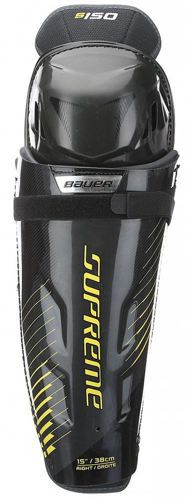 Щитки хоккейные Bauer Supreme, цвет: черный. 1050819. Размер 151050819В игре важно каждое движение — играйте так, как это нужно вам, благодаря щиткам Bauer Supreme анатомической формы. Щитки изготовлены из защитной пены с учетом требований к максимальному удобству. Они выдержат самые мощные удары и помогут вам двигаться к новым высотам.