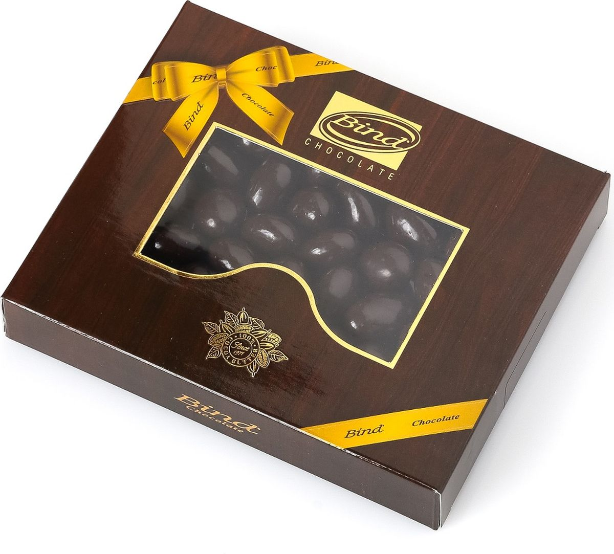 Bind драже с миндалем покрытое темным шоколадом, 100 гPCK-6500.100Драже с миндалем, покрытое темным шоколадом.