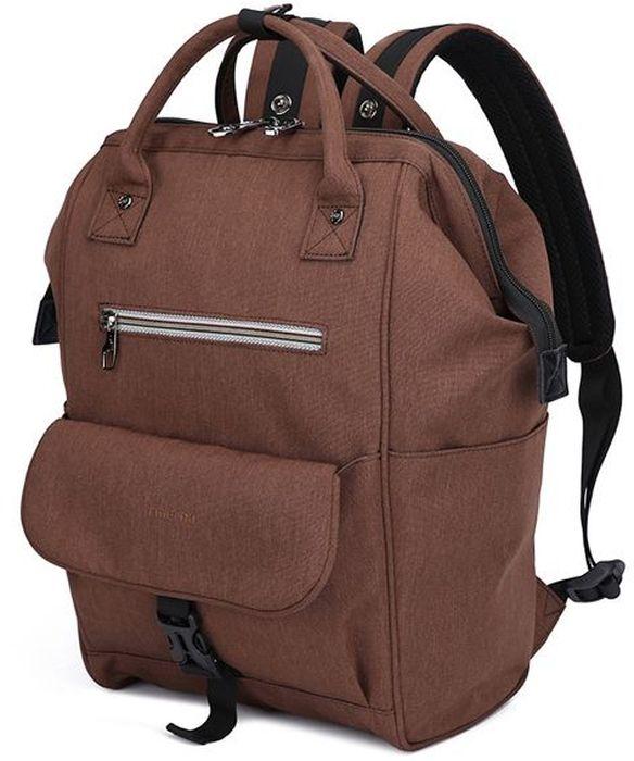 Tigernu T-B3184, Brown рюкзак для ноутбука 132000000155203Tigernu T-B3184 - универсальная модель, которая выполнена в стиле унисекс. Рюкзак подходит для использования в городе и за его пределами. Если вы ищите удобную модель для путешествий и поездок Tigernu T-B3184 - оптимальный выбор.Особенностью модели является возможность ее трансформации во вместительную сумку, которая открывается как саквояж. Рюкзак идеально подходит для использования в любое время года. Он выполнен из прочного, современного материала, устойчивого к промоканию и механическим повреждениям.Модель Tigernu T-B3184 отличается вместительностью, которую обеспечивает основное отделение с органайзером и многочисленными секциями, а также внешние карманы на молнии и защелке. По бокам расположены секции для термоса или бутылки с водой.Модель хорошо держит форму не зависимо от степени ее наполненности.