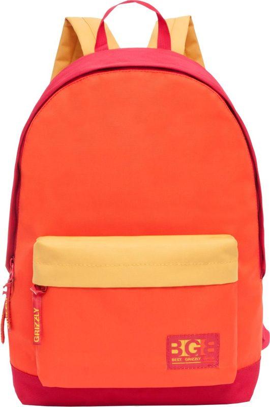 Рюкзак молодежный Grizzly, 17 л. RL-850-1/3RL-850-1/3Рюкзак молодежный Grizzly - лаконичная и очень удобная модель, в которую поместится все: школьные принадлежности и завтрак, одежда и многое другое. Рюкзак, выполненный из полиэстера, имеет одно отделение, объемный карман на молнии на передней стенке, внутренний карман для электронных устройств. Благодаря текстильной ручке рюкзак можно повесить, а подвесная система позволяет регулировать лямки и тем самым адаптировать изделие под рост владельца.