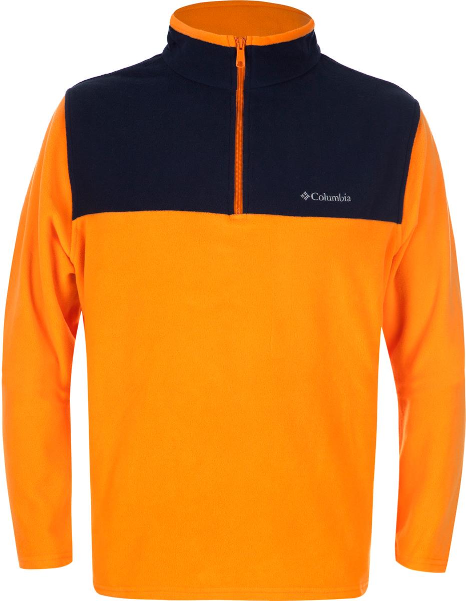 Толстовка мужская Columbia Western Ridge Half Zip M, цвет: оранжевый. 1736071-836. Размер L (48/50)1736071-836Классическая мужская флисовая толстовка от Columbia создана для использования в качестве среднего слоя одежды. Флис - это очень удачный материал для одежды, которая направлена на удержание тепла, ведь ткань даже в мокром состоянии сохраняет свои теплоизоляционные свойства. Воротник-стойка защитит шею от продувания ветром. Модель дополнена двумя боковыми карманами и оформлена на груди логотипом с названием бренда.