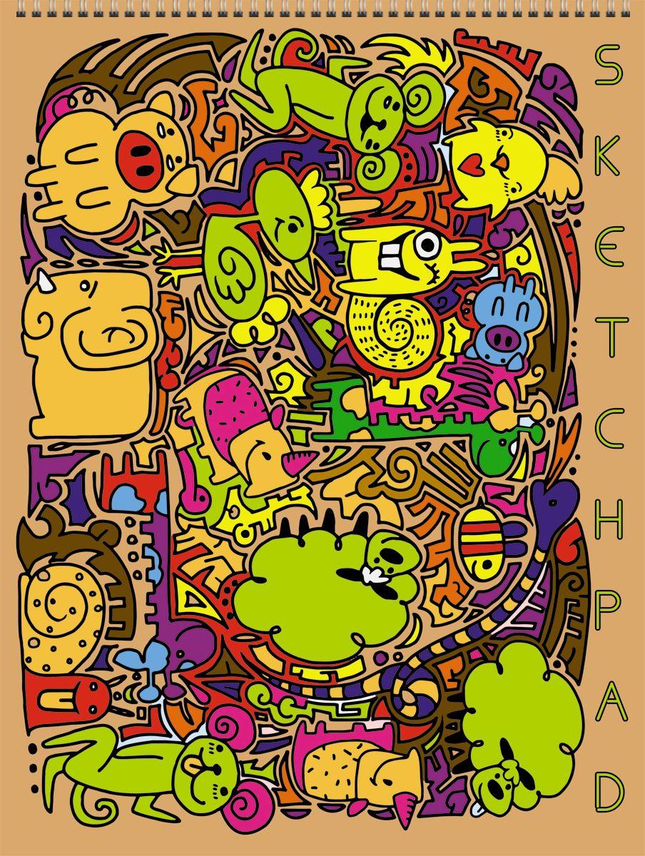Канц-Эксмо Скетчпад Разноцветное настроение 40 листов формат А4