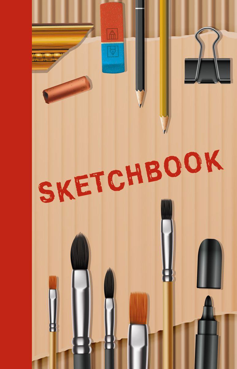 Канц-Эксмо Скетчбук Мир художника 80 листов формат А5+ тетради канц эксмо темно красная а5 200листов тетради с пластиковой обложкой