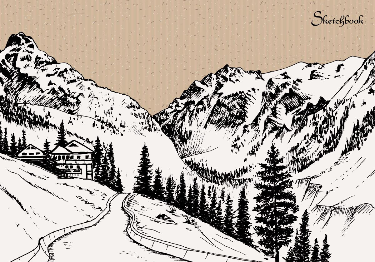 Канц-Эксмо Скетчбук Горный пейзажТ5804478Скетчбук с твердой обложкой, А5+ , 80л., без линовки. Горный пейзаж.