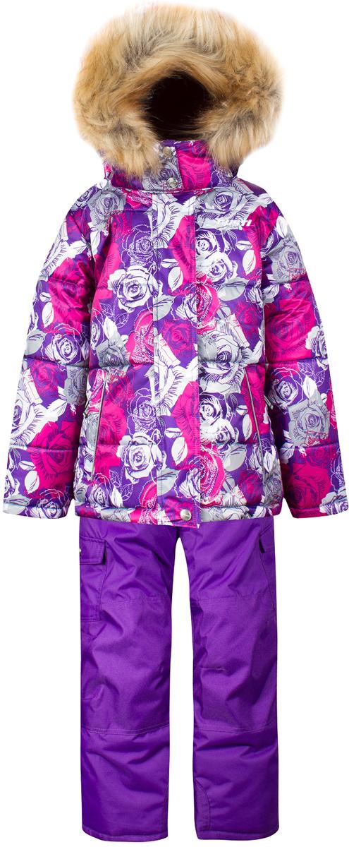 Комплект верхней одежды для девочки Gusti, цвет: фиолетовый. GWG 4642-PURPLE. Размер 123GWG 4642-PURPLEКомплект Gusti состоит из куртки и полукомбинезона. Ткань верха: мембрана с коэффициентом водонепроницаемости 5000 мм и коэффициентом паропроницаемости 5000 г/м2, одежда ветронепродуваемая. Благодаря тонкому полиуретановому напылению изнутри не промокает даже при сильной влаге, но при этом дышит (защита от влаги не препятствует циркуляции воздуха). Плотность ткани Т190 обеспечивает высокую износостойкость. Утеплитель: тек-Полифилл (Tech-Polyfil) - 280г/м2, силиконизированый полиэстер изготовленный по новейшим технологиям, удерживает тепло при температуре до -30 С. Очень мягкий, создающий объем для сохранения тепла. Высокоэффективный, обладающий повышенной устойчивостью к сжатию (после стирки в стиральной машине изделие достаточно встряхнуть), обеспечивающий хорошую вентиляцию, обладающий прекрасным, теплоизолирующими свойствами синтетический материал. Главные преимущества Тек-Полифила – одежда более пушистая на ощупь и менее тяжелое по весу. Подкладка: высокотехнологичный флис COOLQUICK. Специальное кручение нитей позволяет ткани максимально впитывать влагу и увеличивать испаряемость с поверхности, т.е. выпустить пар, но не пропускает влагу снаружи, что обеспечивает комфорт даже при высоких физических нагрузках. Этот материал ранее был разработан специально для спортсменов, которые испытывали сильные нагрузки во время активного движения, а теперь принес комфорт и тепло в нашу повседневную жизнь. Это особенно важно для детей, когда они гуляют на свежем воздухе, чтобы тело всегда оставалось сухим и теплым. В этой одежде им будет тепло в течение длительного времени и нет необходимости надевать теплый свитер. Верхняя одежда GUSTI просто чистится. Стирать одежду придется очень редко – только при сильных загрязнениях. Если малыш забрался в лужу или грязь, просто вытрите пятно влажной тряпкой.