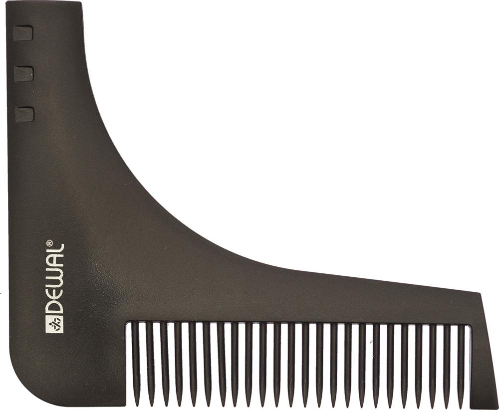 Dewal Расческа для бороды, цвет: черный, 9,5 см х 11 см расчески dessata расческа dessata hair brush mini black black черный черный