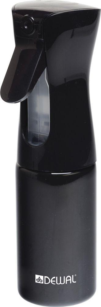 Dewal Распылитель-спрей пластиковый, цвет: черный, 160 млJC002blackРаспылитель - спрей для воды с мелкой дисперсией Dewal JC002black Новейшая разработка, превращает воду в облако мельчайшей водяной пыли Новая система спрея распыляет воду в любом положении бутылки - вертикально, горизонтально и даже вниз головой, в независимости от количества воды во флаконе Удобная форма, легкий вес Мелкодисперсное распыление воды продолжается еще несколько секунд после того, как вы отпустили клапан, благодаря чему волосы можно намочить за считанные мгновения - цвет: черный, - объем: 160 мл, Рекомендуем наполнять распылитель только водой