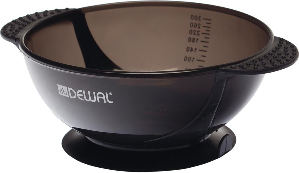 Dewal Чаша для краски, с двумя ручками с прорезиненной вставкой, цвет: черный, 300 мл