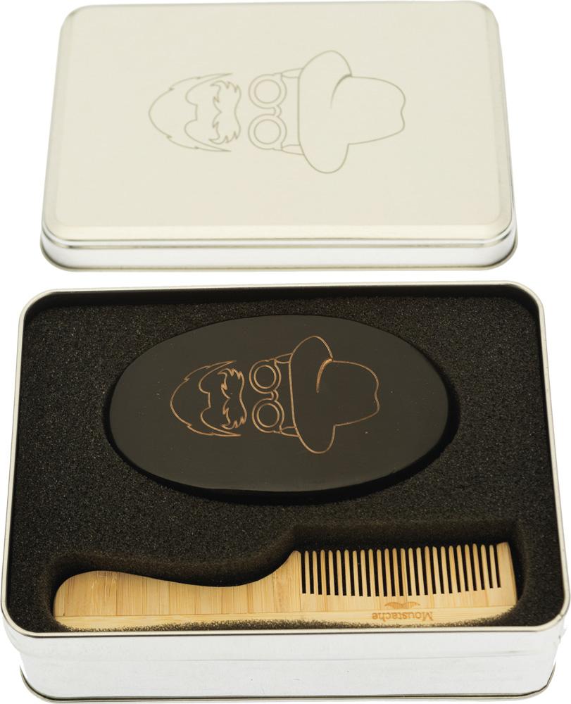 Dewal Набор расчесок для бороды и усов в алюминиевом кейсе расчески bibi набор детская и щетка для волос из натуральной щетины 103590
