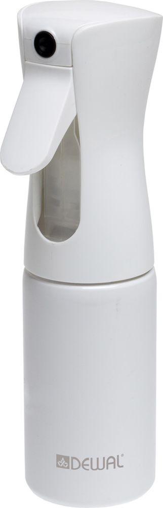 Dewal Распылитель-спрей пластиковый, цвет: белый, 160 млJC001whiteРаспылитель - спрей для воды с мелкой дисперсией Dewal JC001whiteНовейшая разработка, превращает воду в облако мельчайшей водяной пылиНовая система спрея распыляет воду в любом положении бутылки - вертикально, горизонтально и даже вниз головой, в независимости от количества воды во флаконеУдобная форма, легкий весМелкодисперсное распыление воды продолжается еще несколько секунд после того, как вы отпустили клапан, благодаря чему волосы можно намочить за считанные мгновения- цвет: белый, - объем: 160 мл, Рекомендуем наполнять распылитель только водой