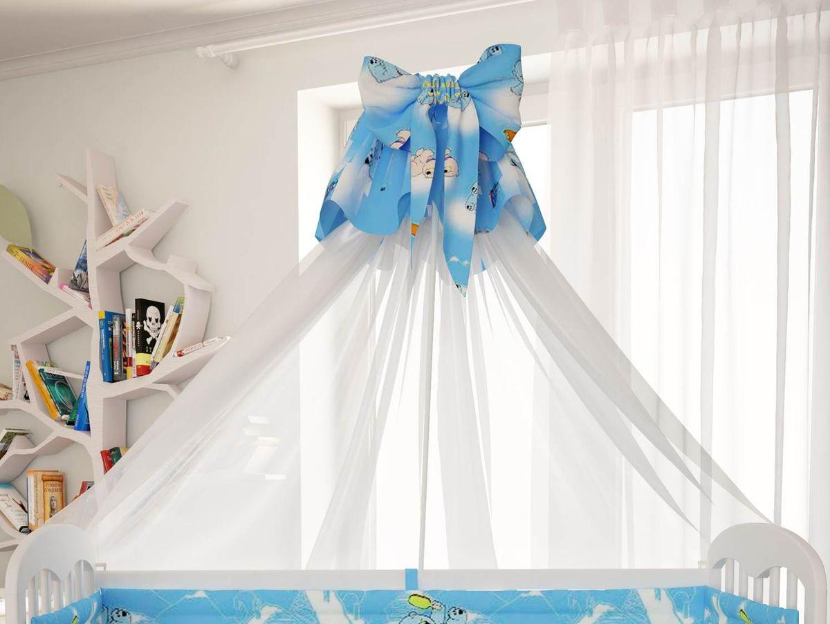 Polini Балдахин в кроватку Мишки цвет голубой