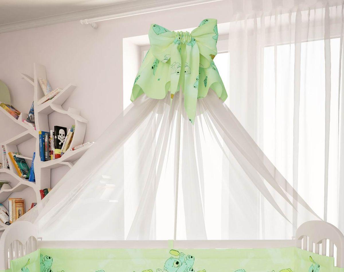 Polini Балдахин в кроватку Мишки цвет зеленый