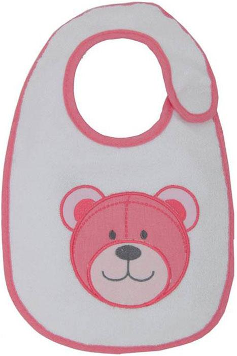 Polini Набор нагрудников для кормления Плюшевые мишки цвет розовый 3 шт