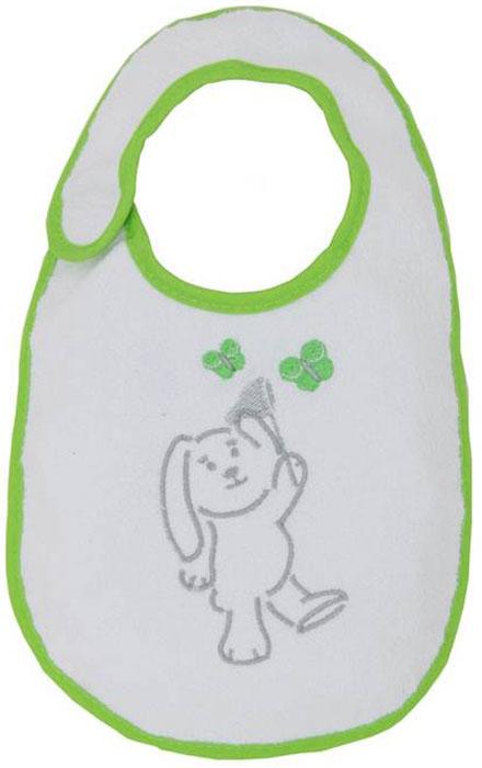 Polini Набор нагрудников для кормления Зайки цвет зеленый 3 шт