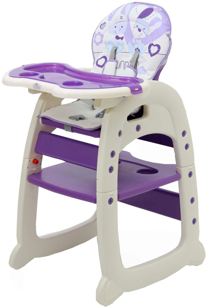 Polini Стульчик для кормления 460 цвет фиолетовый стульчики для кормления polini 460