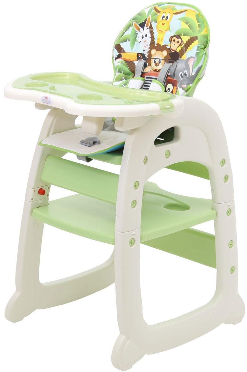 Polini Стульчик для кормления 460 цвет зеленый стульчики для кормления polini 460