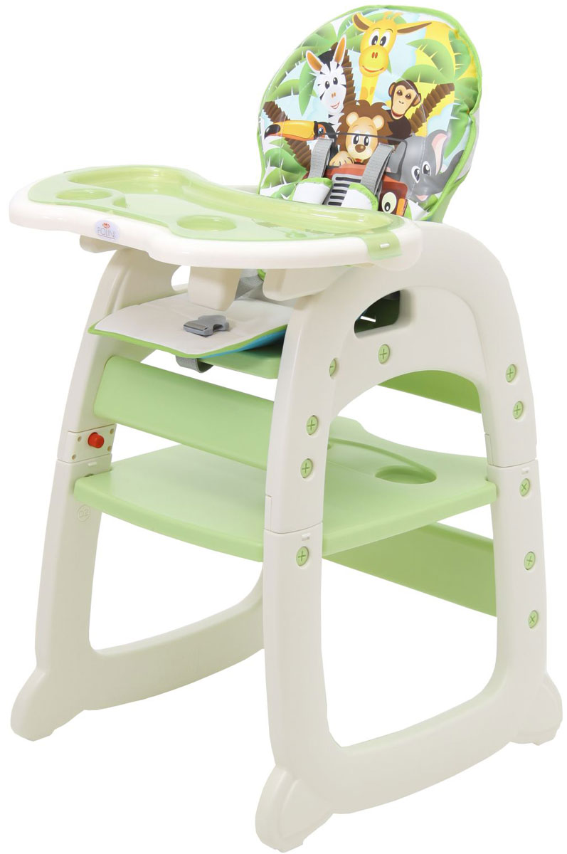 Polini Стульчик для кормления 460 цвет зеленый selby стульчик для кормления цвет белый зеленый 827378
