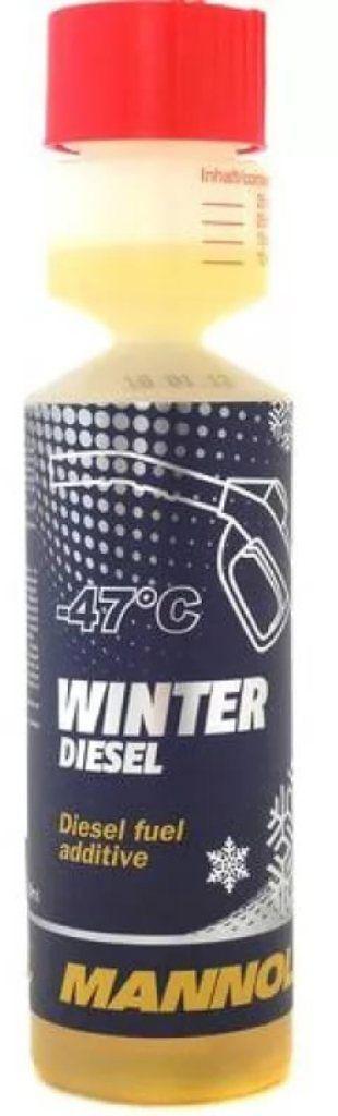 Антигель для дизельного топлива MANNOL Winter Diesel, зимний, 250 мл. 21272127Присадка для предотвращения образования кристаллов парафина в дизельном топливе при низких температурах. Благодаря депрессорному действию антигеля предотвращается забивка фильтров и топливопроводов. Антигель не только снижает предельную температуру фильтруемости (до -36 °C) и температуру застывания (до -47 °C) дизельного топлива, но и оптимизирует работу топливной системы при низких температурах. Сгорает полностью, без образования зольных отложений.