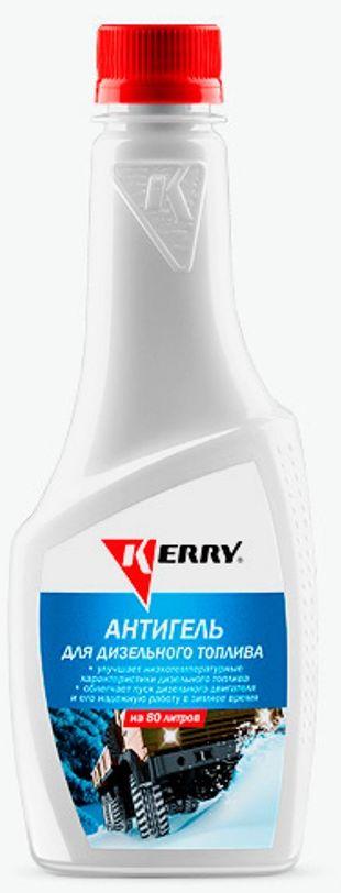 Антигель для дизельного топлива KERRY, концентрат на 80 л, 355 мл. KR-352KR-352Эффективная комплексная депрессорно-диспергирующая присадка, существенно улучшающая низкотемпературные характеристики дизельного топлива. Блокирует рост кристаллов парафинов и препятствует их агломерации и осаждению, благодаря чему значительно понижаются Тз?-?температура застывания (гелеобразования), при которой топливо теряет текучесть, и ПТФ?-?предельная температура фильтруемости, при которой забивается фильтр. Предотвращает образование парафиновых отложений в фильтрах и других элементах топливной системы. Облегчает пуск дизельного двигателя и его надёжную устойчивую работу в зимнее время. На Тз и ПТФ влияет состав конкретного топлива и качества перемешивания антигеля в нём.