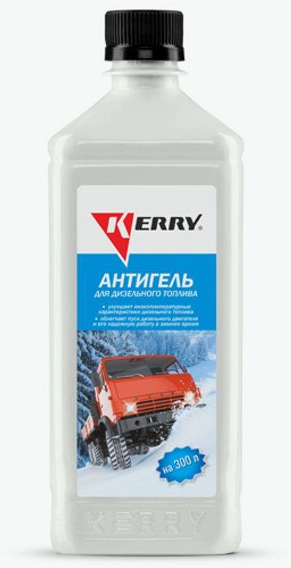 Антигель для дизельного топлива KERRY, суперконцентрат на 300 л, 600 мл. KR-357