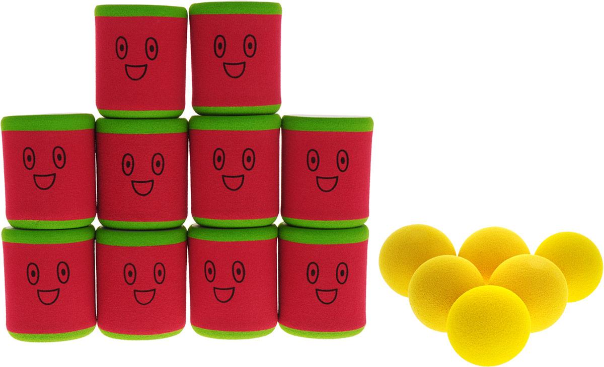 Safsof Игровой набор Городки цвет красный зеленый желтый городки