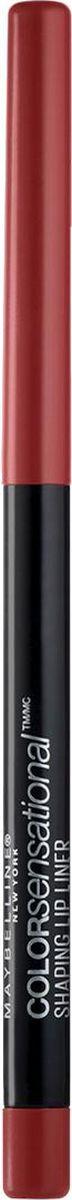 Maybelline New York Карандаш для губ Color Sensational, оттенок 90, Кирпично-красныйB2852000Впервые насыщенный и стойкий цвет в удобной форме карандаша для губ. 8 оттенков подобраны таким образом, чтобы сочетаться с самыми популярными и разнообразными оттенками помады.