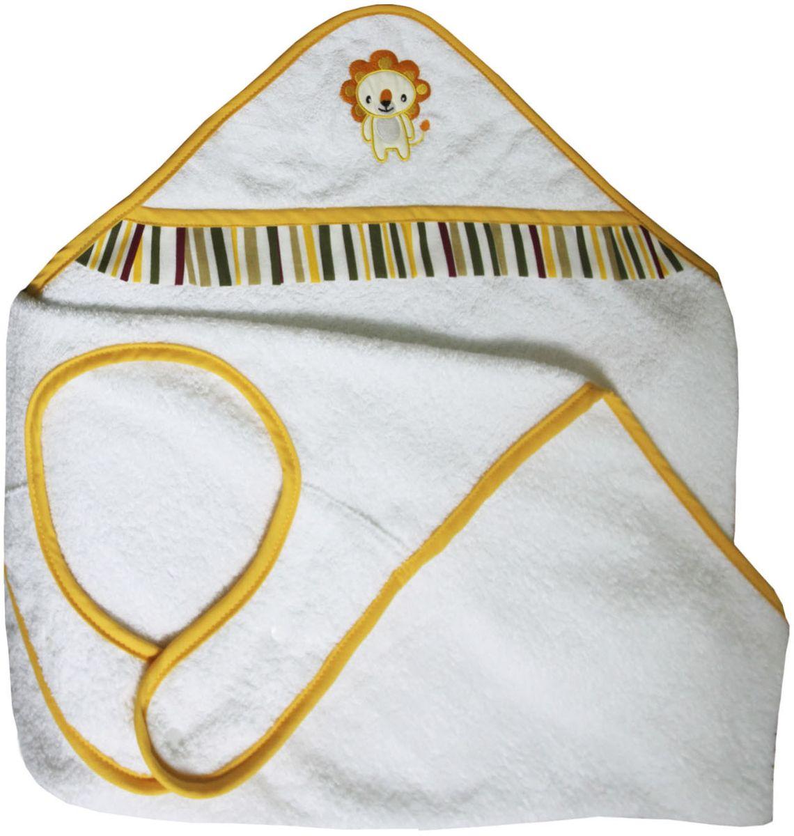 Polini Полотенце-фартук детское Джунгли цвет белый оранжевый -  Полотенца