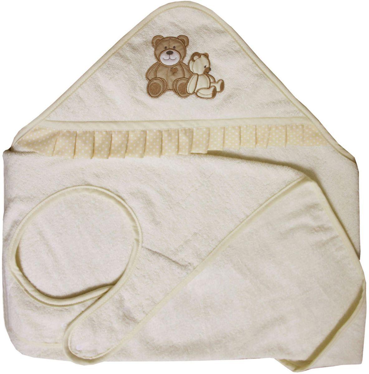 Polini Полотенце-фартук детское Плюшевые мишки цвет бежевый -  Полотенца