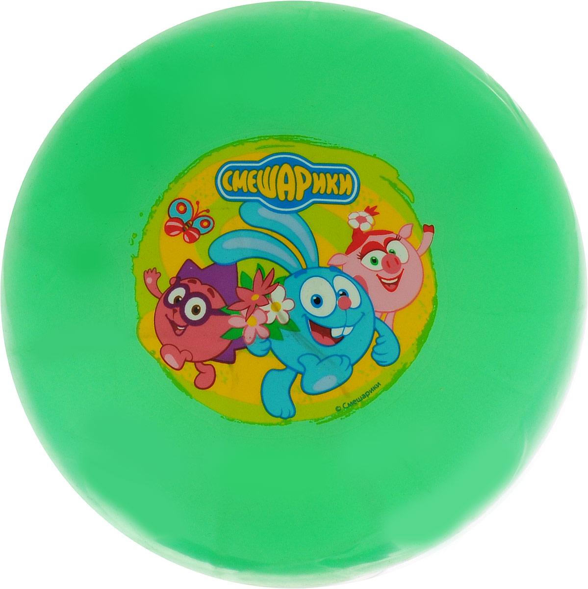 Играем вместе Мяч детский Смешарики цвет зеленый 23 см