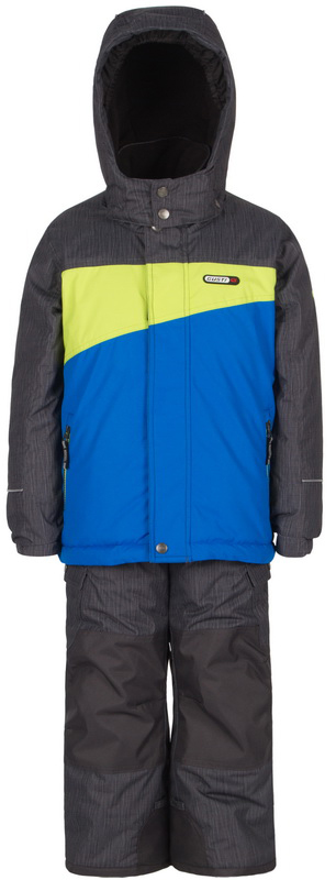 Комплект верхней одежды для мальчика Gusti, цвет: серый, синий, желтый. GWB 3304-ELECTRIC BLUE. Размер 100GWB 3304-ELECTRIC BLUEКомплект Gusti состоит из куртки и полукомбинезона. Ткань верха: мембрана с коэффициентом водонепроницаемости 5000 мм и коэффициентом паропроницаемости 5000 г/м2, одежда ветронепродуваемая. Благодаря тонкому полиуретановому напылению изнутри не промокает даже при сильной влаге, но при этом дышит (защита от влаги не препятствует циркуляции воздуха). Плотность ткани Т190 обеспечивает высокую износостойкость. Утеплитель: тек-Полифилл (Tech-Polyfil) - 280г/м2, силиконизированый полиэстер изготовленный по новейшим технологиям, удерживает тепло при температуре до -30 С. Очень мягкий, создающий объем для сохранения тепла. Высокоэффективный, обладающий повышенной устойчивостью к сжатию (после стирки в стиральной машине изделие достаточно встряхнуть), обеспечивающий хорошую вентиляцию, обладающий прекрасным, теплоизолирующими свойствами синтетический материал. Главные преимущества Тек-Полифила – одежда более пушистая на ощупь и менее тяжелое по весу. Подкладка: высокотехнологичный флис COOLQUICK. Специальное кручение нитей позволяет ткани максимально впитывать влагу и увеличивать испаряемость с поверхности, т.е. выпустить пар, но не пропускает влагу снаружи, что обеспечивает комфорт даже при высоких физических нагрузках. Этот материал ранее был разработан специально для спортсменов, которые испытывали сильные нагрузки во время активного движения, а теперь принес комфорт и тепло в нашу повседневную жизнь. Это особенно важно для детей, когда они гуляют на свежем воздухе, чтобы тело всегда оставалось сухим и теплым. В этой одежде им будет тепло в течение длительного времени и нет необходимости надевать теплый свитер. Верхняя одежда GUSTI просто чистится. Стирать одежду придется очень редко – только при сильных загрязнениях. Если малыш забрался в лужу или грязь, просто вытрите пятно влажной тряпкой.